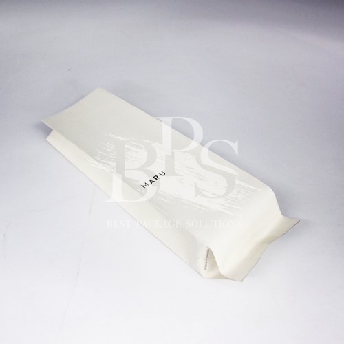 Metalized High Barrier Compostable Side Gusset Pouch Coffee Packaging Bags with compostable Valve